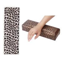 New!! Nail Art Tool Rectangle Leopard Print Leather Pad Salon Hand Holder Column Cushion Pillow Arm Rest Manicure Tool