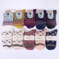 2014 Izmir Winter&Autumn Boutique Women Cotton Socks Lovely&Warm 2 Styles 5 pairs/lot