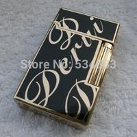 100% guarantee original Top quality big logo metal windproof flame gas lighter cigarette cigar lighter for smoking