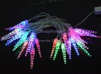Hot Selling New 5M 28 LED Christmas Icicle Shape String Fairy Light Christmas Xmas Party Wedding Decoration 100-240V EU Plug b4