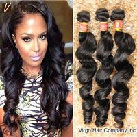 Peruvian Virgin Hair Loose Wave 3pcs lot Peruvian Loose Wave Rosa Hair Products Virgin Human Hair Weaves Virgo Hair Products