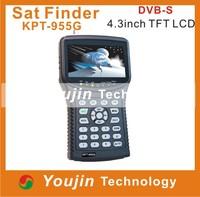 digital sat finder KPT-955G 4.3Inch TFT LED Handheld Multifunctional HD Satellite Finder&Monitor