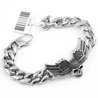 2014 Stainless Steel Hight quantity Men Angel Skull Bracelets