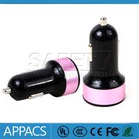 2014 hot 3.1A dual USB car charger for car air purifier