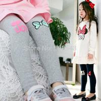 """2014 Autumn Girls Plus Velvet Warm Leggings Children """"I Love You"""" Design Leggings Long Trousers Free Shipping 5 PCS"""