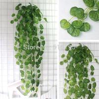 90cm artificial leaves wall hanging Green plants  Home decoration Lysimachia christinae Hance rattan