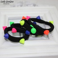 2014 fashion colorful Wholesale lot 50Pcs Girls Kids Elastic Hair Bands for women free shipping M037