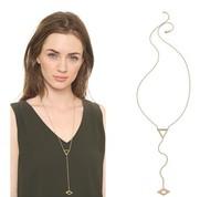 2014 European  style jewelry wholesale geometric triangle  Long necklace 12 pcs/lot