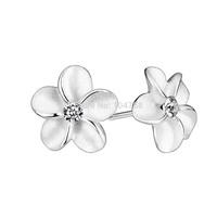 GNE1027 New 2014 Promotion Alice & Flowers Stud Earrings for Women Fashion Jewelry 925 Sterling Silver Earrings Free Shipping
