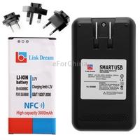 Link Dream Li-ion Battery with NFC + US Plug Battery Charge+ EU Plug & AU Plug & UK Plug Adapters for Samsung Galaxy S5 / i9600