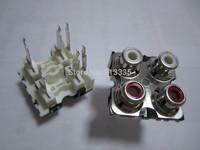 FOUR PORT  RCA SOCKET ,AV4-8.4-25D ,,AV JACK,Outlet jack,Customized welcomed