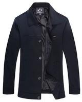 free shipping men's jacket spring autumn coat turn down collar jakets for men business men's overccoat 35