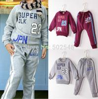 Winter Fleece Printing Digital Clothes Set Baby Children Boys Children Long Sleeve Tops And Long Pants Sets Kids Clothing 5 SET