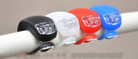 New 2014 Silicone LED Bike Cycling Light Front Tail Flash Lamp Bulb Waterproof Safety