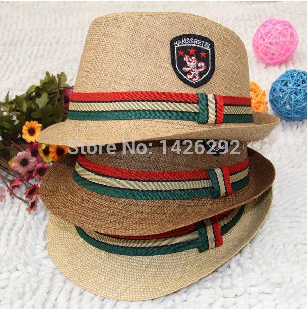 2014 Summer Kids Children Toddler Panama Hat Beach Bucket Hat Caps Fedoras Cowboy Boys Girls Linen(China (Mainland))