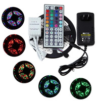 10M 600 LED Non-Waterproof Magic Dream Color 3528 RGB SMD Horse Race Lamp Led Strips+44key IR Remote Controller+12V 2A Power