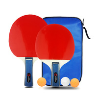 Free shipping sports necessary products table tennis bats two-sided straight grip