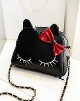 The new 2014 fashion cute cat chain bag single shoulder his leisure female bag