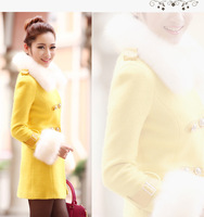 women's Fashion dust coat women's slim trench double-breasted outerwear female