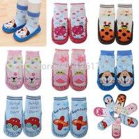 Anti-slip Indoor Warm Slipper Shoes Cute Cartoon Baby Boy Girl Toddler Socks Shoes New Born 6-24 Months