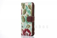 100pcs /lot Cowboy grain case  cloth holster broken beautiful pastoral style  support  for Apple iPhone6