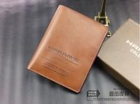 High-grade packing famous brand 2014 Male Genuine Leather Brief  Short Design Men's Wallets Card Holder Cowhide wallet men