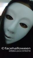 Lot 100 Female Women Blank Full Face White Mask for Party / Halloween / carnival Free Shipping