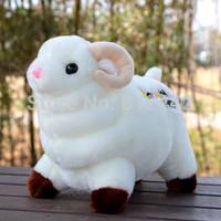 FREE SHIPPING 32cm Kawaii Cute Souvenir White Sheep Stuffed Animal Plush Toy For Children Girl Happy Birthday Party Gift Doll