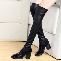 New 2014 autumn and winter fashion sexy women's slim tight stretch Over Knee Length High Boots DUNHU5206-11