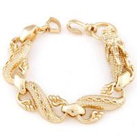 Min. Order $8.8(Mix Order) 2014 New Style Metal Dragon Gold Bracelet Charm Fashion Girl Bracelet FB0008