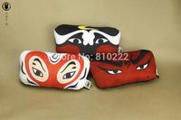 China Traditional Beijing Opera Mask  Car Headrest Neck Pillow Car Cushion Car Accessories Neck Pillow  for Car Pillow-Mix order