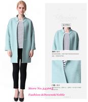 Wool & Blends coats for women autumn winter trench mandarin collar coat women's cloak outwear jacket 2014 fashion new plus size