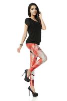 BOB shop 939 digital printing gothic sport punk  fitness women leggings legging leggins Pencil pants wholesale
