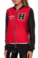 New 2014 Autumn winter Women Harajuku Hogwarts BF Zipper Casual Bomber Jacket fasshion Coat Outerwear Digital Print S-J005