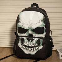 Women bag men's backpacks new creative men and women bag skull large zipper bags student section retro shoulder bag