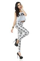 BOB shop 945 digital printing gothic sport punk skull  fitness women leggings legging leggins Pencil pants wholesale