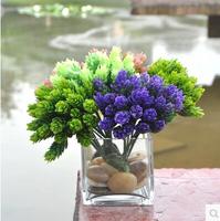 Mixed colors Mini plastic flowers home decoration table decos free shipping 36pcs