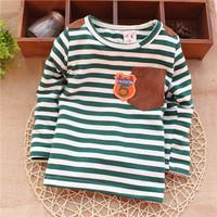 baby letter fashion 5 spring autumn striped unisex infant baby goys baby girls sweatershirts KT264R