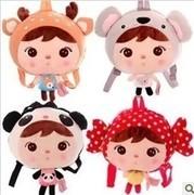 Free shipping cartoon Metoo keppel doll bag girl backpack kindergarten kids school backpack plush doll toy baby gift 1 pc