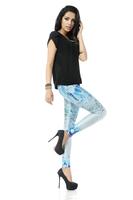 BOB shop 940 digital printing gothic sport punk  fitness women leggings legging leggins Pencil pants wholesale