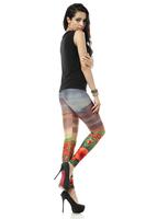 BOB shop 947 digital printing gothic sport punk fitness women leggings legging leggins Pencil pants wholesale