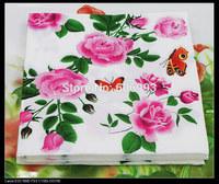 Food-grade Floral Paper Napkins Flower Festive & Party Tissue Napkins Decoupage Decoration Paper 33cm*33cm 1pack/lot