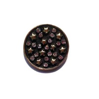 New 30pcs lot shiny gold crystals metal star charm flatback button DIY oranment accessory