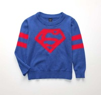 2014 New Arrival O-Neck spring and autumn Children Clothing Kids Sweater Infant Sweater Baby knitwear Superman