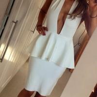 Looking for white bandage tight Halter Halter Dress bandage dress mini bodycon dress frozen dress elsa dress
