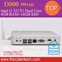 Latest Desktop Mini Gamer PC 4GB RAM,16GB SSD,WIFI Fanless PC Intel Core i3 3217U Mini PC HDMI 1080P Desktop PC Smart Computer