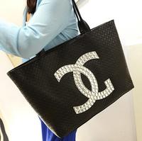 free shipping fashion brand big bag Leisure shoulder bag handbag Simple PU Leather Bag Women's Messenger Bags Tote