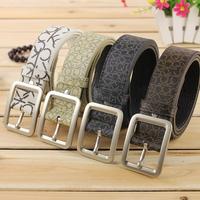 NEW arrival 2014 men belt brand designer Faux leather strap pin buckle Belts for men FREE SHIPPING