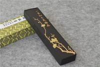 1pcs Chinese traditional ink stick Solid ink Anhui old hukaiwen ink calligraphy ink Yi sheng zhi ji shi mei hua black color 120g