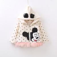 New 2014 Children Coat Baby Girls' Cardigan Minnie Mouse Girls' Outerwear Kids Fall Clothes Babies Jacket Child Clothing